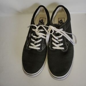 VANS ladies Black and white canvas sneakers size 8